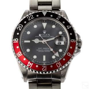 Rolex GMT Master Ref 16700 Red & Black Bezel Watch