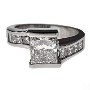Diamond & Platinum 4.25 CTTW Ring 3 Ct G VS2 GIA