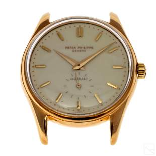 Patek Philippe 18K Gold Calatrava Ivory Dial Watch