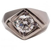 Natural Diamond & Platinum Ring 3.01 CT F VS2 GIA
