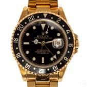 Rolex Solid 18K Gold GMT Master #16718 Sport Watch