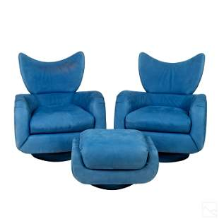 Vladimir Kagan Directional PR Modern Lounge Chairs
