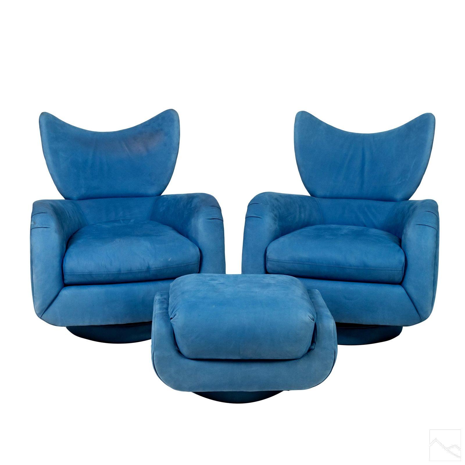 Vladimir Kagan Directional PR Modern Lounge Chairs