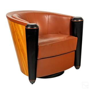 Pace Modern Adam Tihany Mariani Leather Club Chair