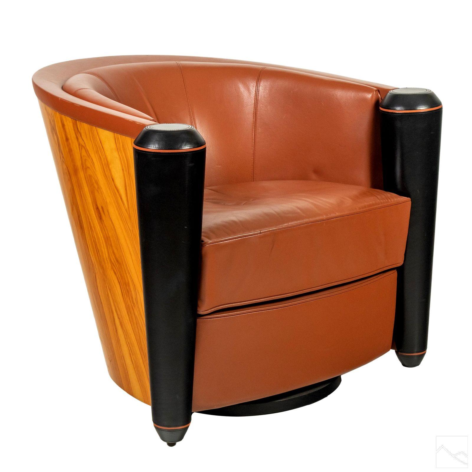 Pace Modern Adam Tihany Mariani Leather Club Chair