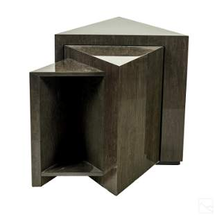 Wiggers Custom Modern Triangle Shape Nesting Table