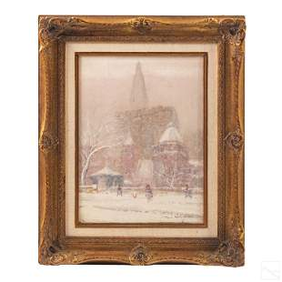 Johann Berthelsen 1883-1972 Impressionist Painting