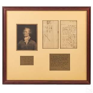 Alexander Hamilton Signed HANDWRITTEN 1795 Letter