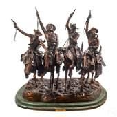 Remington Through The Rye Bronze Cowboy Sculpture