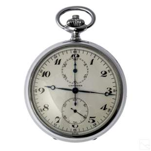 Longines 19C Chronograph Pocket Watch Box & Papers