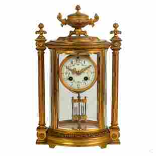 A.D. Mougin Bronze French Empire Era Mantel Clock