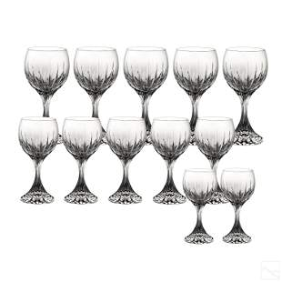 Baccarat French Crystal Massena Wine Water Goblets