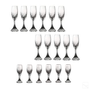 Baccarat French Crystal Massena Champagne Flutes