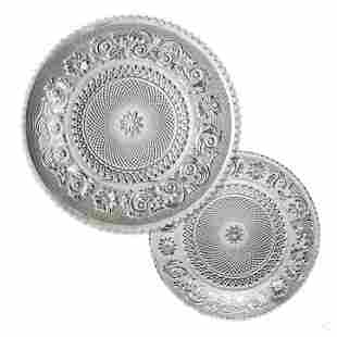 Baccarat French Crystal Dinnerware Plates 19PC SET