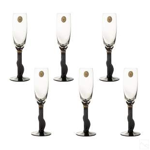 Christian Dior Casablanca Champagne Flute SET OF 6