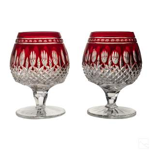 Waterford Crystal Clarendon Brandy Snifter Glasses