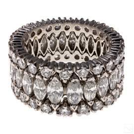 Diamond Platinum Eternity Band Ring Sz 8.5 5 CTTW