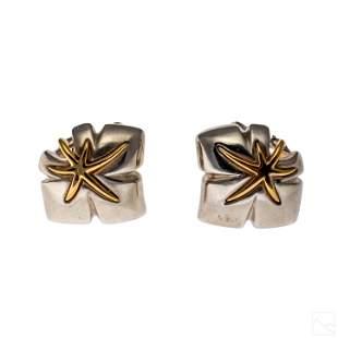 18K Gold 925 Silver Vintage Tiffany & Co. Earrings