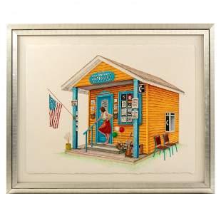 Robert Fleisher (American, b.1952) Watercolor Painting