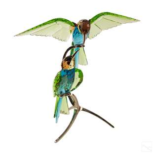 Swarovski Crystal Bee Eaters Peridot Bird Figurine