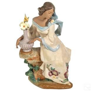 Lladro Limited Ed Garden Breeze Figurine Sculpture