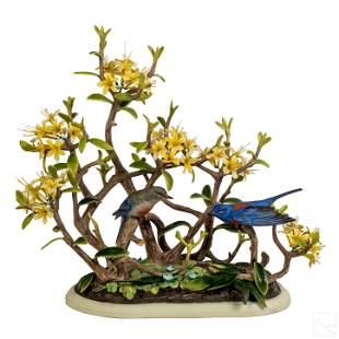 Boehm Porcelain Western Bluebirds Figurine Statue