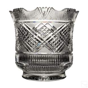 Heritage Irish Cut Crystal Scalloped Bowl Jar Vase