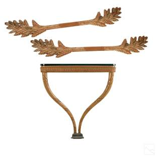 French Country Style Wall Mount Console Table 4 Pc