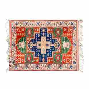 Hand Made Wool Caucasian Design Tribal Carpet Rug