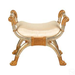 Maitland Smith Neoclassical Style Curule Chair