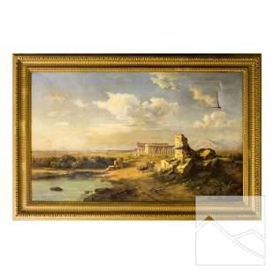 Julius Montalant 19th Cent. Landscape Oil Painting