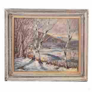Edward Harrigan New England Landscape Oil Painting
