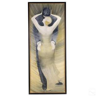 Cathy Von Rohr Dancing Deco Couple Oil Painting