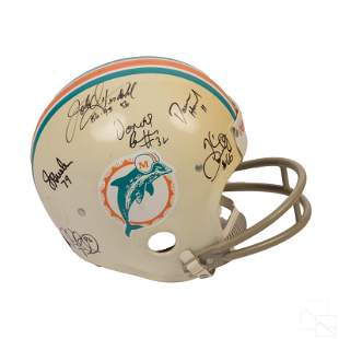 Miami Dolphins 11 Players SIGNED NFL Team Helmet