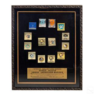 NASA Apollo Missions Framed LE Matchbook FULL SET