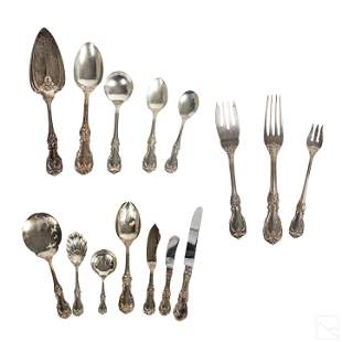 Reed and Barton 77 PC Sterling Silver Flatware SET
