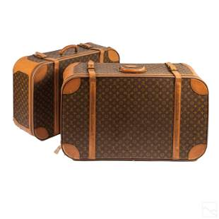 Louis Vuitton LV Zippered VTG Suitcases ESTATE LOT