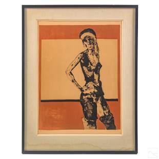 Jean Jansem (1920-2013) LE Modern Woman Lithograph