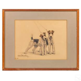 Leon Danchin American Dog Terriers LE Lithograph