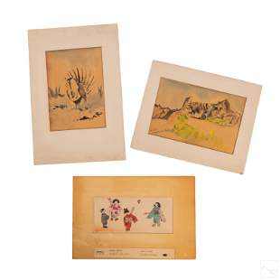 Japanese B. Asada (1899-1984) Watercolor Paintings