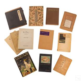 Japanese Antique Books Art and Culture GROUP LOT
