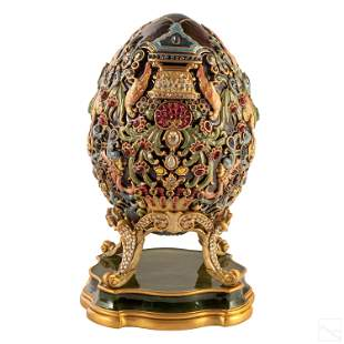 Jay Strongwater LE Beaumont Venetian Egg Sculpture