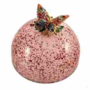 Jay Strongwater Swarovski Butterfly Sculpture, Box