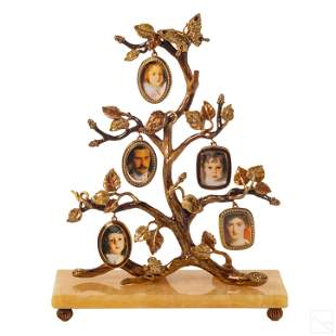 Jay Strongwater Family Tree Photo Frame Sculpture