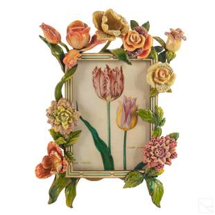 Jay Strongwater Ltd. Edition Floral Picture Frame