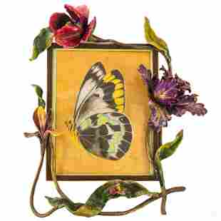 Jay Strongwater Orchids & Bee Large Picture Frame