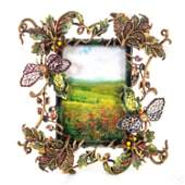 Jay Strongwater Dragonfly and Floral Picture Frame