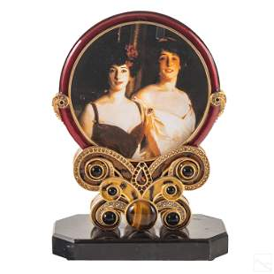 Jay Strongwater Art Deco Two Sided Picture Frame