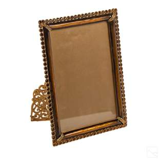 """Jay Strongwater 7"""" Swarovski Crystal Picture Frame"""