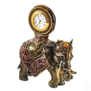 Jay Strongwater SIGNED Cleopatra Elephant Clock